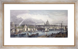 Thames Embankment (Restrike Etching) by G.H. Andrews