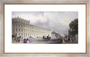 Treasury Office, Whitehall (Restrike Etching) by Anonymous