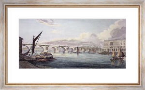 Waterloo Bridge (Restrike Etching) by W G Moss