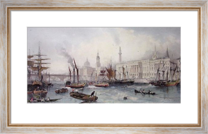Port of London in 1839 (Restrike Etching) by Thomas Allom