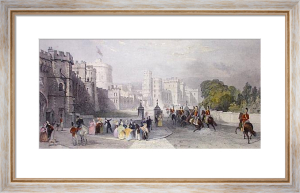 Windsor Castle (Restrike Etching) by Thomas Allom