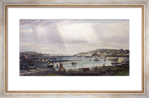 Milford Haven & Docks (Restrike Etching) by Edward Duncan