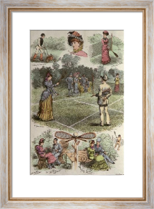 A Days Tennis (Restrike Etching) by Shirley Hodson
