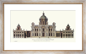 Castle Howard (Elevation) (Restrike Etching) by C. Campbell
