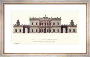 Lord Percival's House (Elevation) (Restrike Etching) by C. Campbell