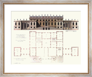 Braman Park (Elevation) (Restrike Etching) by C. Campbell