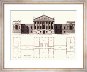 Walpole House (Elevation) (Restrike Etching) by C. Campbell