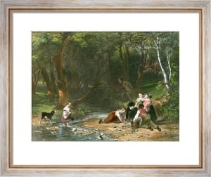 Lucky Escape (Restrike Etching) by William Frederick Witherington