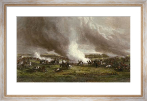 Battle of Waterloo (Restrike Etching) by George Jones