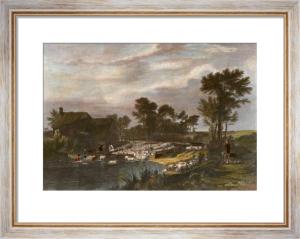 Sheep Washing (Restrike Etching) by Wilkie