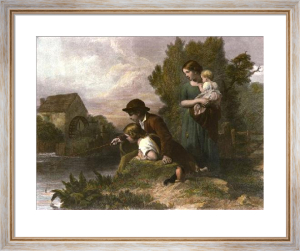 Little Anglers (Restrike Etching) by Henry Lejeune