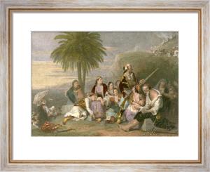 Greek Fugitives (Restrike Etching) by Sir Charles Lock Eastlake