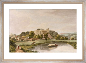 Arundel Castle (Restrike Etching) by W Scott