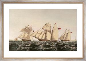 Waterford Schooners (Restrike Etching) by John Lynn