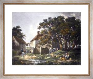 Village Inn (Restrike Etching) by George Morland
