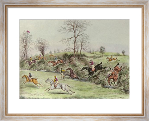 St Albans G Steeplechase - Pl. II (Restrike Etching) by James Pollard