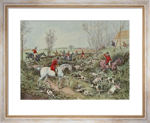 Drawing the Cover (Restrike Etching) by Henry Alken