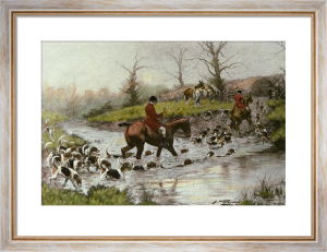 Crossing the Ford (Restrike Etching) by Wright