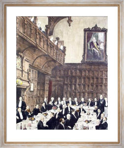 Charterhouse, Founders Day (Restrike Etching) by A.H. Wardlow