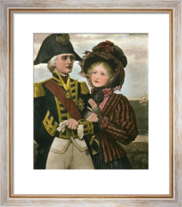 Nelson & Lady Hamilton (Restrike Etching) by James Wilson Carmichael
