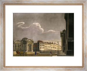 Dublin Views - (Lamp-posts) (Restrike Etching) by Thomas Malton
