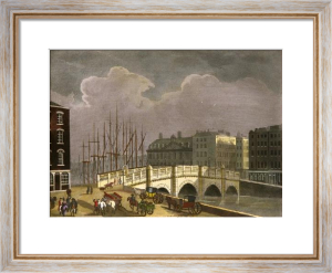Dublin Views - (Bridge & Masts (Restrike Etching) by Thomas Malton
