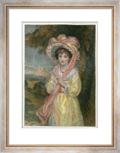 Easter Bonnet (Restrike Etching) by Walton