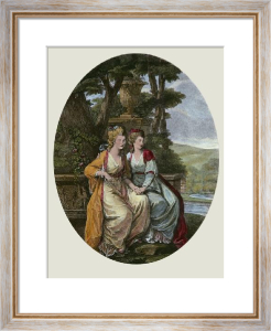 Duncannon Sisters (Restrike Etching) by Angelica Kauffmann