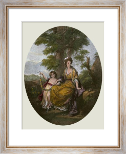 Lady Rushout (Restrike Etching) by Angelica Kauffmann