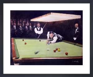 Match Play (Snooker) (Restrike Etching) by Terence Gilbert