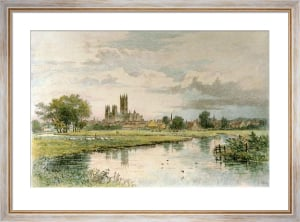 Canterbury From The Stour (Restrike Etching) by Axel Haig