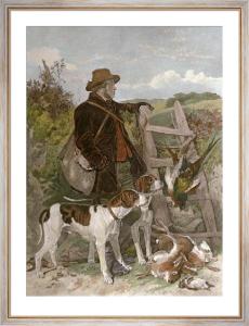 English Gamekeeper (Restrike Etching) by Richard Ansdell