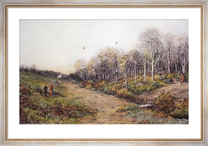 Pheasant Shooting (Restrike Etching) by Douglas Adams