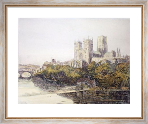 Durham Cathedral (Restrike Etching) by Victoria S. Hine