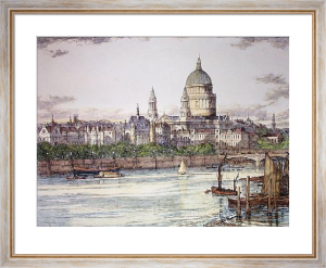St Paul's Cathedral (Restrike Etching) by John Fulwood