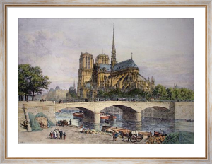 Notre Dame (Restrike Etching) by Axel Haig