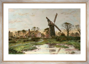 Windmill (Large) (Restrike Etching) by Frederick Albert Slocombe