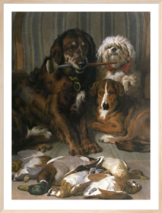 Well Bred Sitters (Restrike Etching) by Sir Edwin Henry Landseer