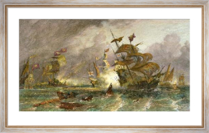 Armada Off Gravelines (Restrike Etching) by Oswald W. Brierley