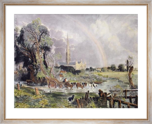 Salisbury Cathedral (Rainbow) (Restrike Etching) by John Constable