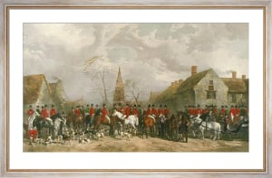 Pytchley Hunt (& Key Plate) (Restrike Etching) by Henry Barraud