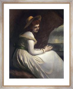 Lady Hamilton as Ariadne (Restrike Etching) by George Romney