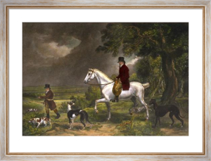 Coursing in Sussex (Restrike Etching) by Ward