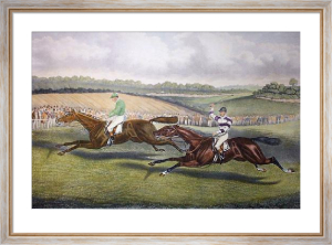 Great Match for 1000 Guineas (Restrike Etching) by Charles Hunt