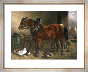 Dray Horse (Restrike Etching) by John Frederick Herring