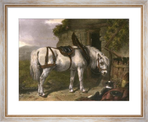 Scotch Cart Horse (Restrike Etching) by John Frederick Herring