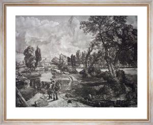 Dedham Lock (Restrike Etching) by John Constable