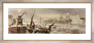 Tidal Thames (Restrike Etching) by Robert Gallon