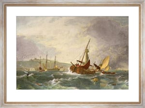 Light Breeze Off Dover (Restrike Etching) by Sir Augustus Wall Callcott