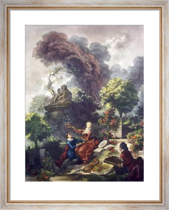 Crowning of Love (Restrike Etching) by Jean-Honoré Fragonard